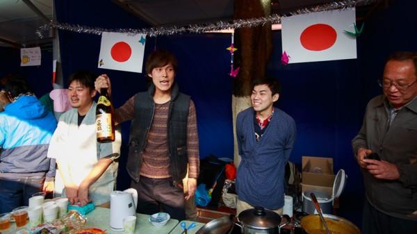 Gian hàng Nhật Bản với hai món chủ đạo là Cà-ri kiểu Nhật Bản và rượu sake.