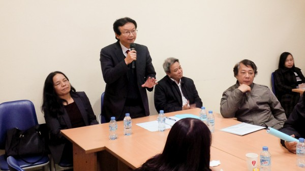 PGS.TS Nguyễn Thiện Nam (Chủ nhiệm Khoa) phát biểu tại Hội nghị.