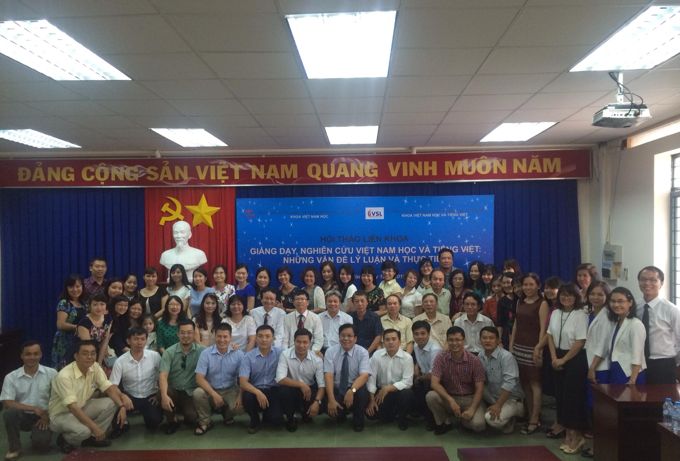 """Hội thảo khoa học """"Giảng dạy, nghiên cứu Việt Nam học và tiếng Việt: Những vấn đề lý luận và thực tiễn"""" năm 2015"""