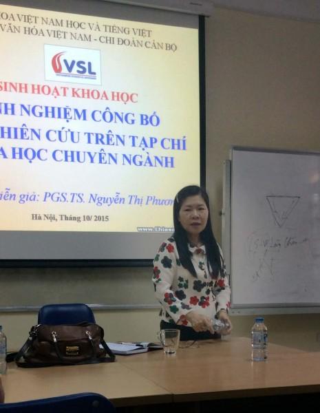 PGS.TS. Nguyễn Thị Phương Chi.