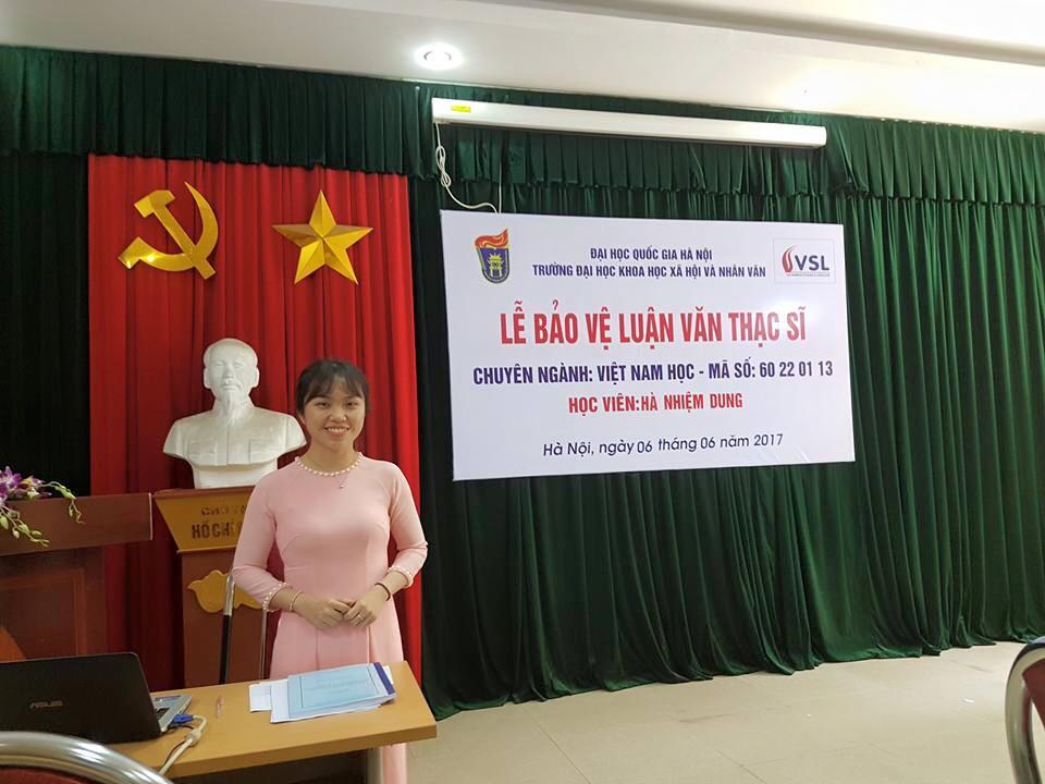 Qủa ngọt đầu mùa của chương trình Thạc sĩ Việt Nam học